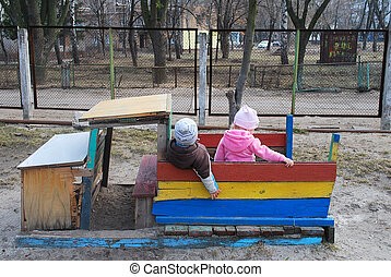 Boy with a girl sitting in the car