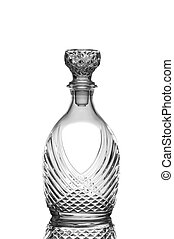 Crystal Whiskey Decanbter - Closeup of a cut crystal whiskey...