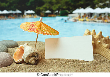 sandy beach on a tropical coast