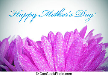 happy mothers day - sentence happy mothers day and some pink...