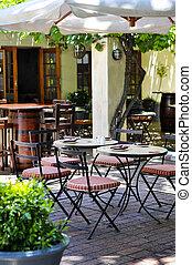 calçada, restaurante