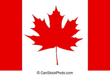 Canadian Flag - Stylized Canadian flag. EPS10 vector...