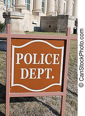 Police Department Sign - Sign outside of Police Department...