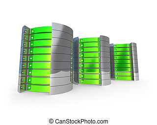 3D Servers - Computer generated image - 3D Servers .