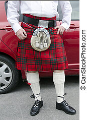 Scottish kilt - Scotsman wearing a kilt