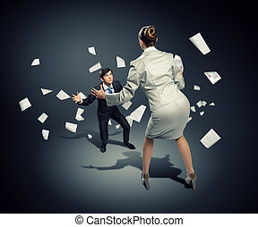 Business dispute - Image of businesspeople arguing and...