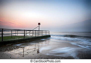 Bournemouth Beach - A small concrete jetty on Bournemouth...