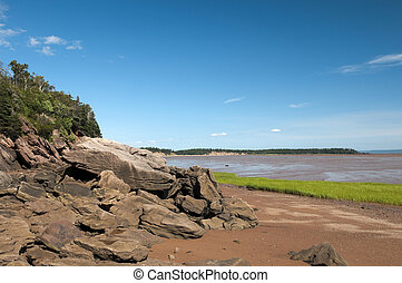 Bay of Fundy Red Soil - Bay of Fundy shoreline with the tide...