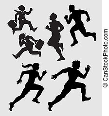 Running Silhouettes - Smooth and detail vector. People...