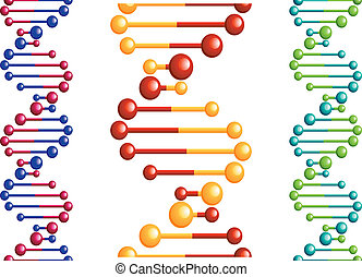 DNA molecule with elements for biology or medicine concept...