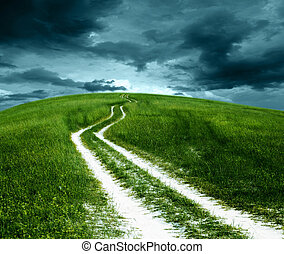 Mountain roads grass. - Rural scenery, mountains and...