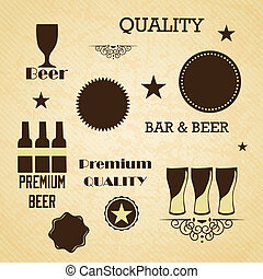 Bar Labels - Bar and beer icons ( labels and concepts)....