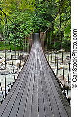 Rope bridge - The rope bridge direct to another side of...