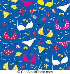 Seamless swimming suits pattern