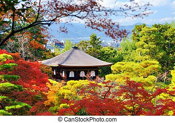 Temple of the Silver Pavilion in Kyoto, Japan Nov 19