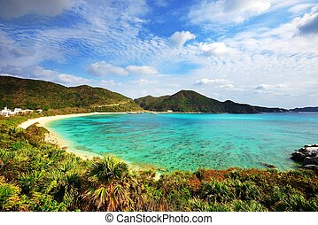 Aharen Beach in Okinawa - Aharen Beach on the island of...