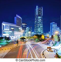 yokohama cityscape at night