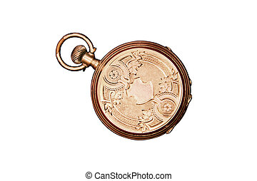 Engraved Antique Pocket Watch - Engraved antique pocket...