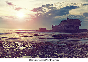 Pura Tanah Lot Temple. One of the most popular and...