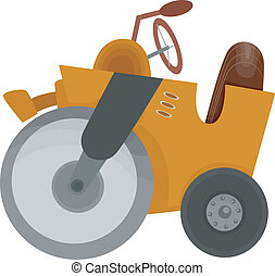 Road Roller - Cartoon Illustration of a Road Roller...