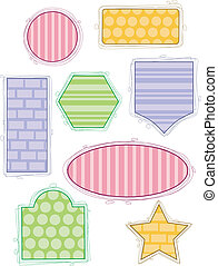 Simple-Shaped Frames 1 - Illustration of Simple-shaped...