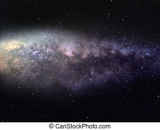 Majestic Milky Way - Wide-angle picture of Milky Way galaxy...