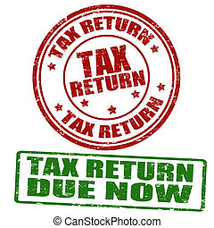 Tax return stamps - Tax return grunge rubber stamps, vector...