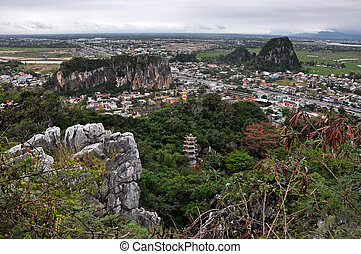 Marble mountains, Da Nang, Vietnam - View from the Marble...