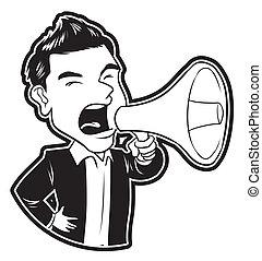 businessman megaphone