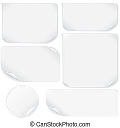 Isolated Blank Paper Sheet. Vector Pack