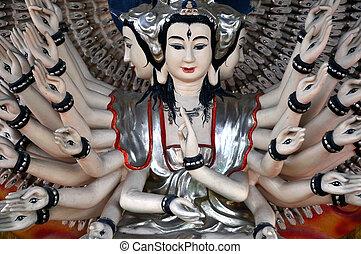 estátua, shiva, Templo, Vietnã