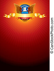 Background with American Eagle - Bright Background with...