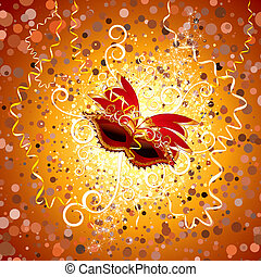Carnival Background - Festive carnival. Carnaval poster with...