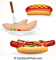 Hot Dog Illustrations