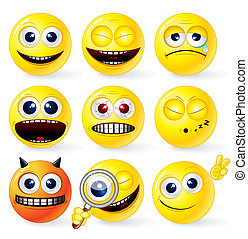 Cartoon Yellow Smileys