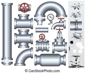 Industrial Conduit and Pipelines Parts - Industrial pipeline...