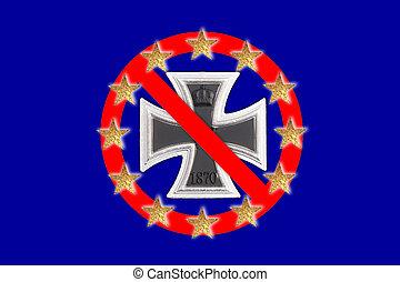 European flag - A European flag with a Iron Cross