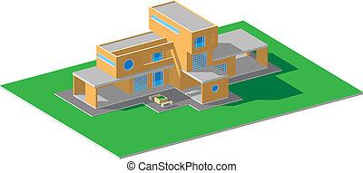 Residential house modern orange