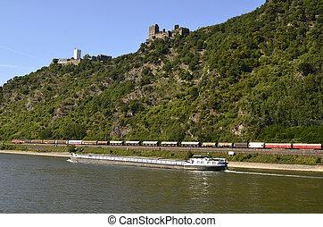 Germany, Rhine Valley - Germany, Unesco World Heritage, ruin...