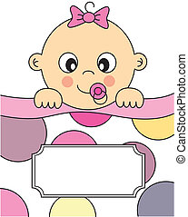 baby girl sleeping - Baby girl arrival announcement card....