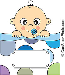 baby boy sleeping. Baby boy arrival announcement card