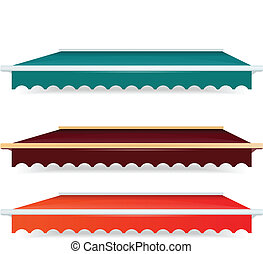 EPS Vector 10 - Colorful set of single color awnings