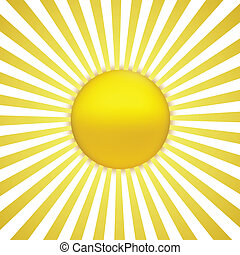 EPS Vector 10 - sun with sunburst