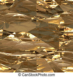 Seamless metallic gold background foil paper