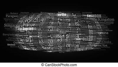 WORLD type printing press - Conceptual representation of the...