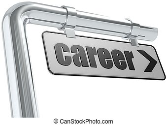 Career street sign - Rendered artwork with white background