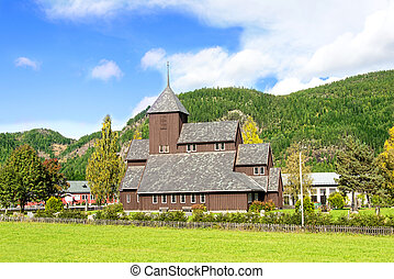 Village church in Scandinavia - Church in Scaninavia