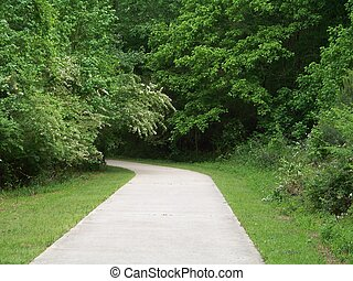 The road less traveled - A path through a park just north of...