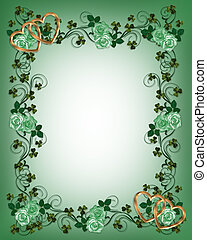 St Pattys Day Shamrocks and roses - Illustration for St...