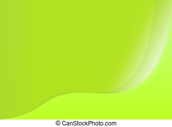 Abstract light green waved background - The Abstract light...
